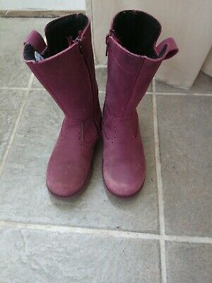 girls leather boots John Lewis