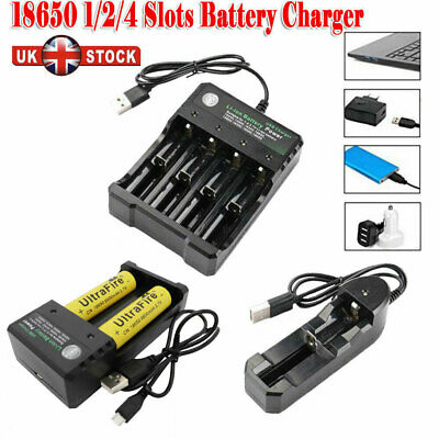 18650 Battery 9800mAh 3.7V Li-ion Rechargeable Batteries with USB Smast Charger