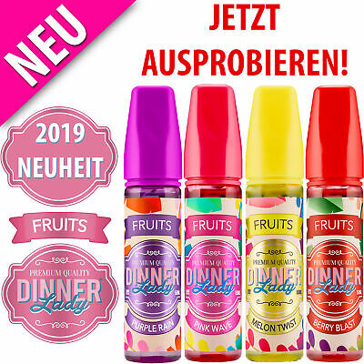 Dinner Lady Fruits 2019 ⭐ Berry Blast, Melon Twist, Pink Wave, Purple Rain 50ml