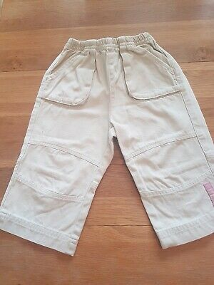 Baby Girls Toddler Cream Trousers Age 12 Months From decathlon creations