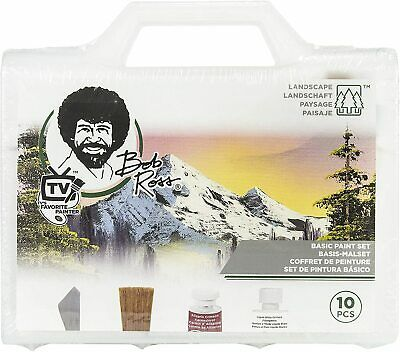 Bob Ross Basic Landscape Oil Painting Set with Instructions