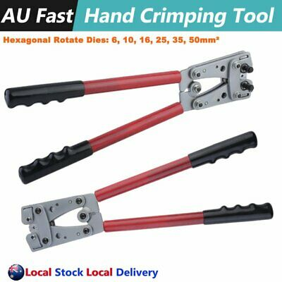 6-50mm² Anderson Plug Crimp Crimping Tool Battery Terminal Cable Lug Hex Crimper
