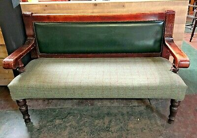 "Reclaimed Original Welsh Church Pine Pew Seat Chapel Settles 8/' feet 7.5/"" inches"