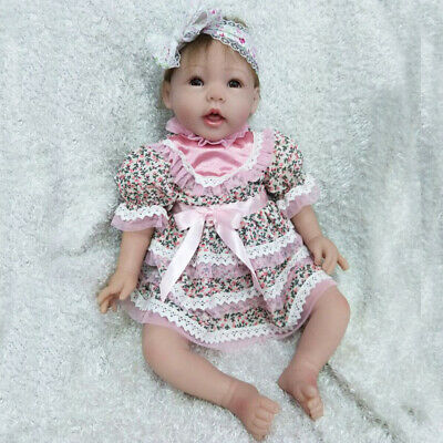 "Realistic 22"" Reborn Baby Dolls Silicone Vinyl Newborn baby Girl Toys Xmas Gifts"