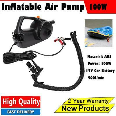 12V 100W Car Battery Power Inflatable Pump Electric Air Pump fr Inflatable Boat