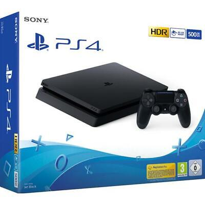 Sony Ps4 Playstation Console 500Gb Slim Nera Black Garanzia Italia 24 Mesi