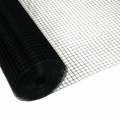 """1""""x1"""" Welded Wire Mesh Black 1m x 10m Aviary Fencing Fence Chicken Rabbit"""
