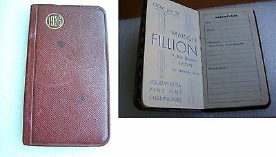 ANCIEN AGENDA 1936 - OFFERT PAR MAISON FILLION - LYON  ANTIQUE BOOK collection