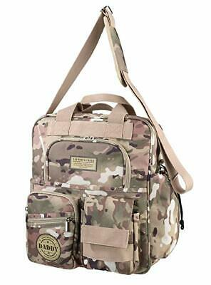 """Dads Military Camouflage Daddy Diaper Bag, Tan/Green, 14.5"""" x 11.5"""" Baby Bags"""