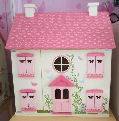 Girls Large Wooden Dolls House With Furniture Pre Owned 4000