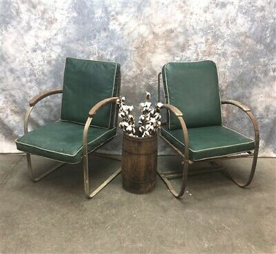 Super Mid Century Modern Pair Of Folding Iron Canvas Butterfly Gmtry Best Dining Table And Chair Ideas Images Gmtryco