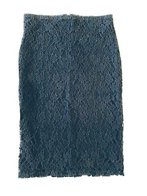 d98a407d2 XHILARATION TARGET BLACK Lace Pencil Midi Skirt Size Medium - $7.99 ...