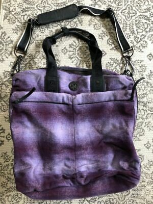 78f5e07481c ... gray manifesto print large gym yoga bag. $135.00 Buy It Now 27d 11h.  See Details. LuLuLemon Fast in Flight Wool Purple Plaid Tote Bag - EUC!