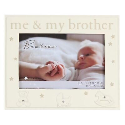 Bambino Unisex Baby Cream Photo Frame - Me and My Brother