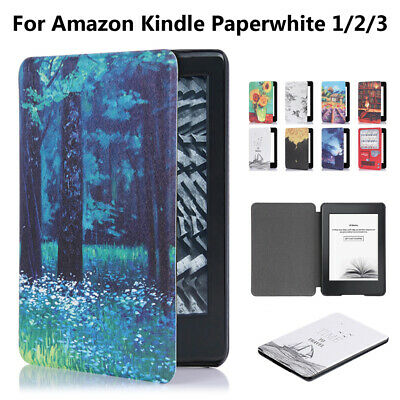Protective Shell Smart Case Cover PU Leather For Amazon Kindle Paperwhite 1/2/3