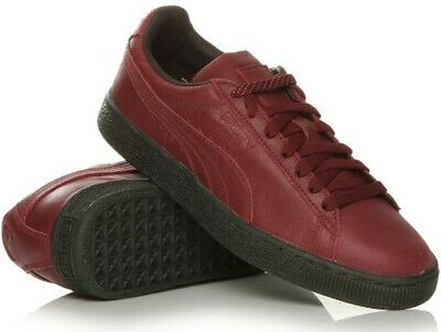 PUMA SUEDE CLASSIC Winterized Mens Trainers Leather Burgundy