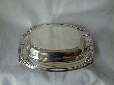"International Silver Daffodil 11 1/2"" Double Vegetable Bowl 9912 Silverplate"