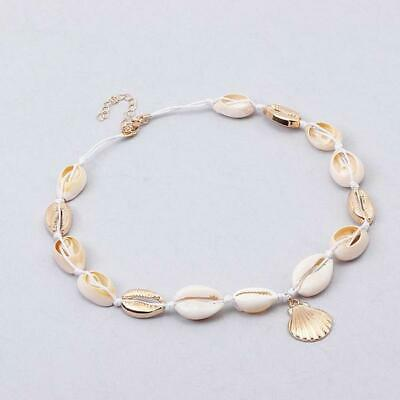 Cowrie Shell Choker Natural Shell Necklace BoHo Adjustable Beach UK