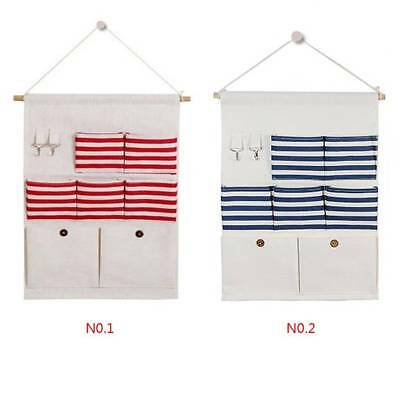 7 Pocket Hanging Storage Bag Door Wall Basket Organizer Home Toy Holder Pouch