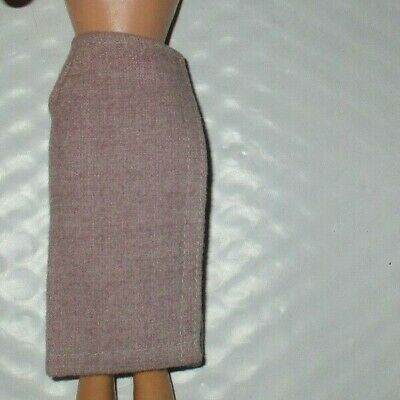 Vintage Barbie SWEATER GIRL #976 Gray Grey Flannel Wrap
