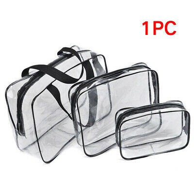 Clear Transparent PVC Travel Makeup Cosmetic Toiletry Zipper Bag S/M/L Hot