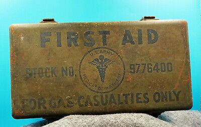 """Ww2 First Aid Kit """"For Gas Casualties Only."""" United States Army Medical Dept"""