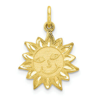 """20 /""""Made With A Smile/"""" Sun Charms Silver Tone Happy Face NF LF Pendants 16mm"""