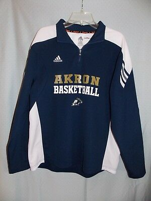 a5230a400974 Adidas Climalite Scorch Akron University Zips Basketball 1/4 Zip Pullover  Medium