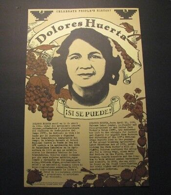 *Dolores Huerta Oop *!Si Se Puede!* Poster – United Farmworkers – Ufw*