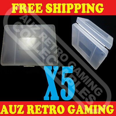 Clear Protective Game Cartridge Case Cover X5 For Nintendo GameBoy GBA / SP GBM