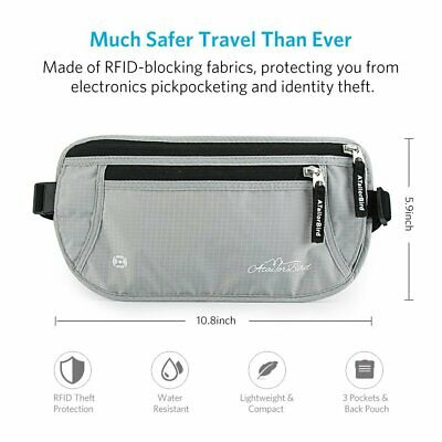 ATailorBird Travel Waist Bum Bag Anti Theft Pouch Belt Card Holder Waterproof