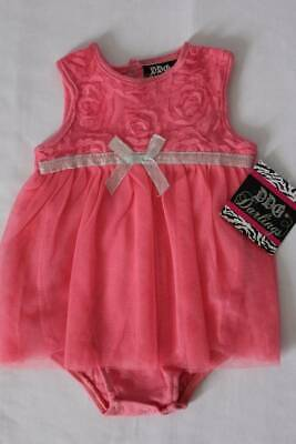 ce8328d53a49 NEW Baby Girls Outfit Size 6 - 9 Months Pink Bodysuit Lace Skirt Roses  Dressy