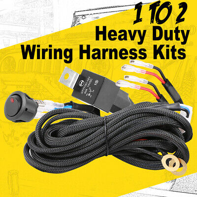 Car Wiring Loom Harness Kits LED Light Bar ON-OFF Rock Switch Relay Fuse 12V