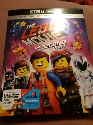 The Lego Movie 2 The Second Part 4K Ultra Hd Blu Ray 2 Disc Set See Description!