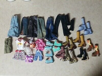 Lot of Bratz/Monster High Doll Clothes, Accessories & Lots Of Shoes All Pictured