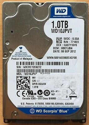 "WD 1TB HDD 2.5"" SATA Hard Drive Notebook Laptop Internal Disk"