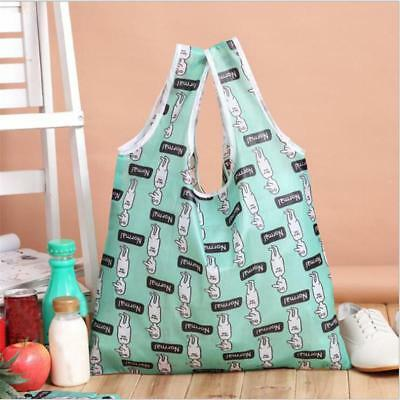 Reusable Nylon Grocery Carry Bag Storage Tote  Foldable Shopping Bags JJ