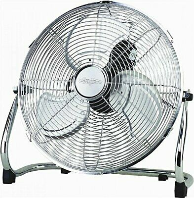 "18"" Chrome High Velocity Industrial 3 Speed Free Standing Large Gym Fan - NEW"