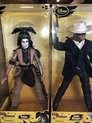 The Lone Ranger & Tonto + Silver Set Disney Store 12 Inch Figure Set Johnny Depp