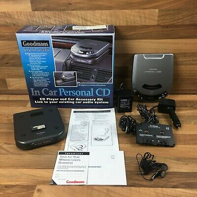 Vintage Goodmans GCD 34K CD Player In-Car Travel Kit Audio System Complete