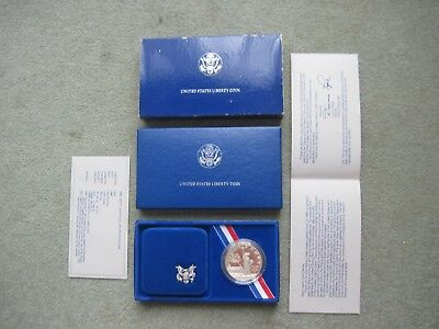 Usa 1986 Proof Silver Liberty Dollar + Presentation Box + Coa