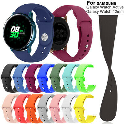 Band Quick Release 20mm Silicone Strap For Samsung Galaxy Watch Active 42mm