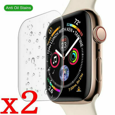 2X 9H Half Tempered Glass Screen Protective Film For Apple Watch iWatch Series 4
