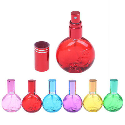 1Pcs 10ml Colorful Glass Perfume Spray Refillable Atomizer Travel Scent Bottles.