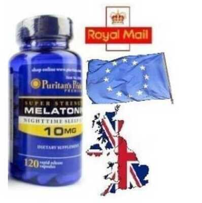 10MG x 120 Capsules Melatonin Melatonina INSOMNIA SLEEPING EXPIRY DATE 09.2019