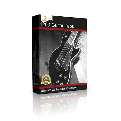 1200+ Tablature Tabs 60s 70s 80s 90s Rock Pop Guitar Song DVD CD Book Software