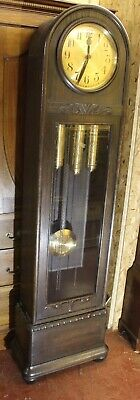 1930s dome top oak 3 x weight -8 x day Grandfather clock