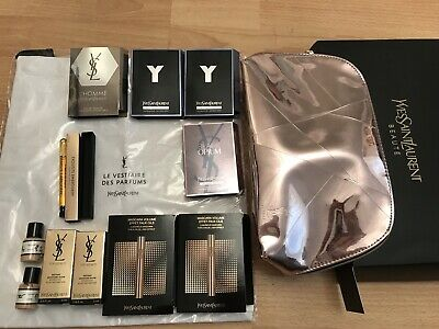 YSL Beauty Gift Set of 12 items/ Pouch, parfum, mascara, primer, foundation,