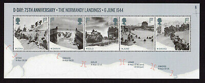 2019 D-DAY 75th ANNIVERSARY Normandy Landings Mini Sheet - NO BARCODE