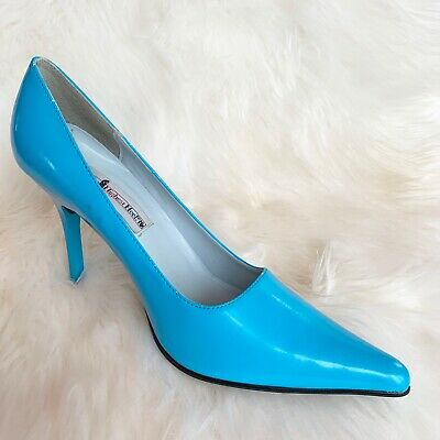 The Highest Heel Women's Size 9 Blue Heels Pointy Toe Pumps Shoes